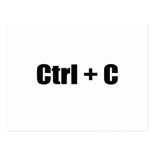 CTRL + C POSTCARD