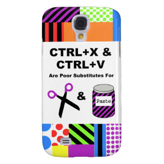 CTRL+X & CTRL+V vs. Scissors & Paste Galaxy S4 Case