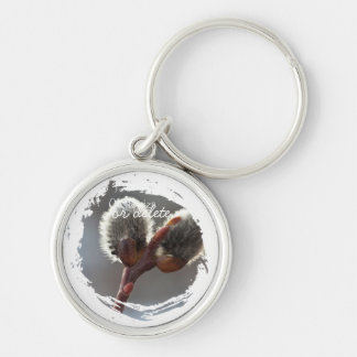 CTW Catkin Twins Silver-Colored Round Key Ring