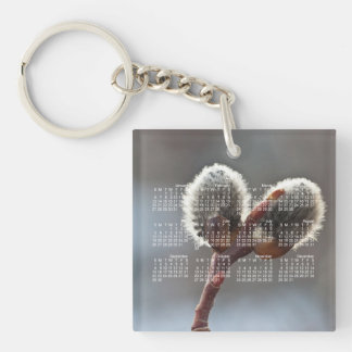 CTW Catkin Twins Single-Sided Square Acrylic Key Ring