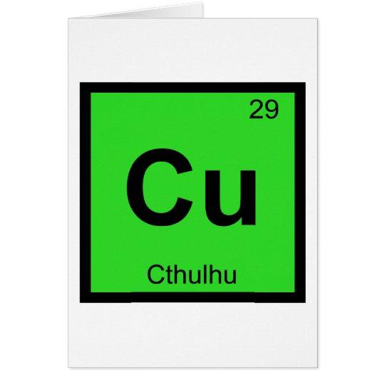 Cu - Cthulhu Chemistry Periodic Table Symbol Card
