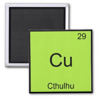 Cu - Cthulhu Funny Chemistry Element Symbol Tee Fridge Magnet