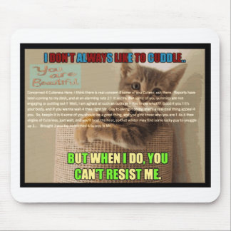 Cu tee Check Poem Mousepad