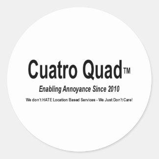 Cuatro Quad - Enabling Annoyance Round Sticker