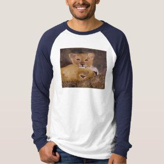 """Cub & Mama Lion"" Long Sleeve Raglan Shirts"
