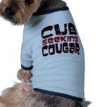 Cub Seeking Cougar T-shirts and Gifts Dog Clothes