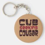 Cub Seeking Cougar T-shirts and Gifts Keychain