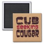 Cub Seeking Cougar T-shirts and Gifts Refrigerator Magnet