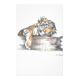 Cub sleeping stationery paper