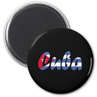 Cuba 6 Cm Round Magnet