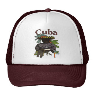 Cuba and Creole Woman On Shirt Cap