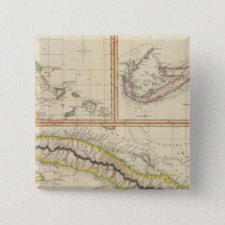 Cuba, Bahama I, Bermudas 15 Cm Square Badge