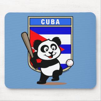 Cuba Baseball Panda Mouse Mat