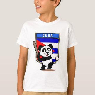 Cuba Baseball Panda T-Shirt