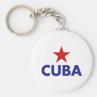 Cuba Basic Round Button Key Ring