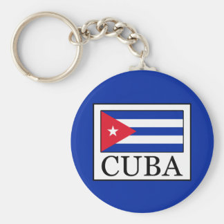 Cuba Basic Round Button Key Ring