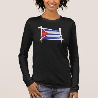 Cuba Brush Flag Long Sleeve T-Shirt