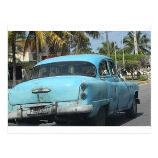 Cuba car postcard