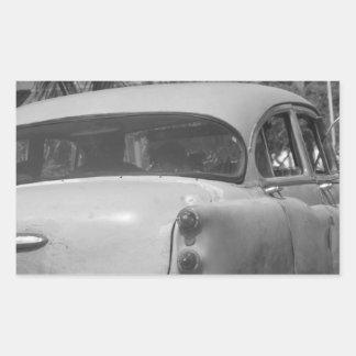 Cuba Car Rectangular Sticker