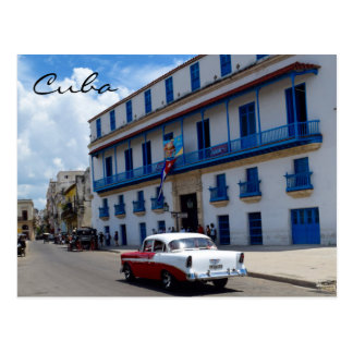 Cuba Classic Car Colorful Architecture Postcard