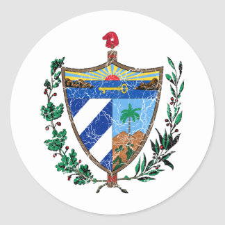 Cuba Coat Of Arms Classic Round Sticker