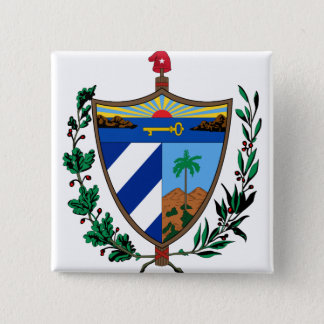 Cuba Coat of arms CU 15 Cm Square Badge