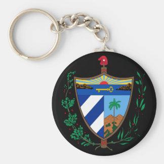 cuba coat of arms key ring