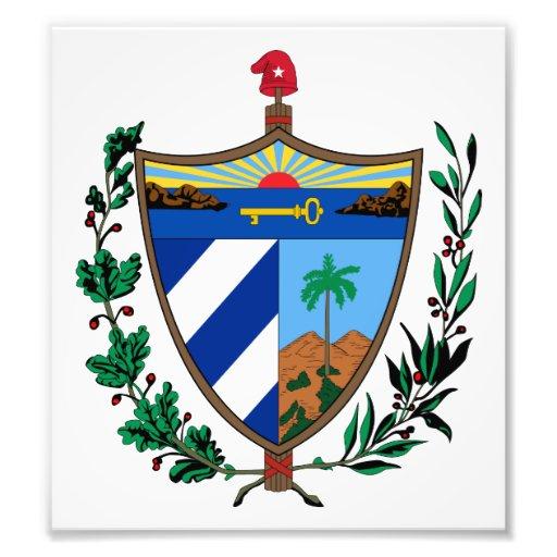 Cuba Coat Of Arms Photograph