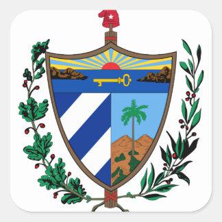 cuba coat of arms square sticker