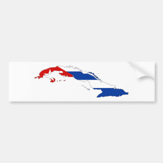 cuba country flag map shape silhouette bumper sticker