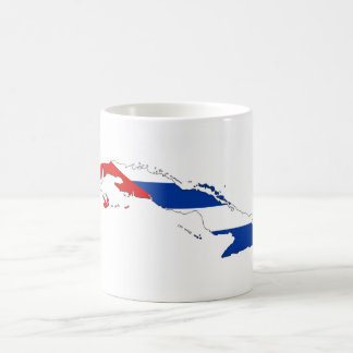 cuba country flag map shape silhouette coffee mug