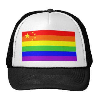 cuba country gay proud rainbow flag homosexual mesh hat