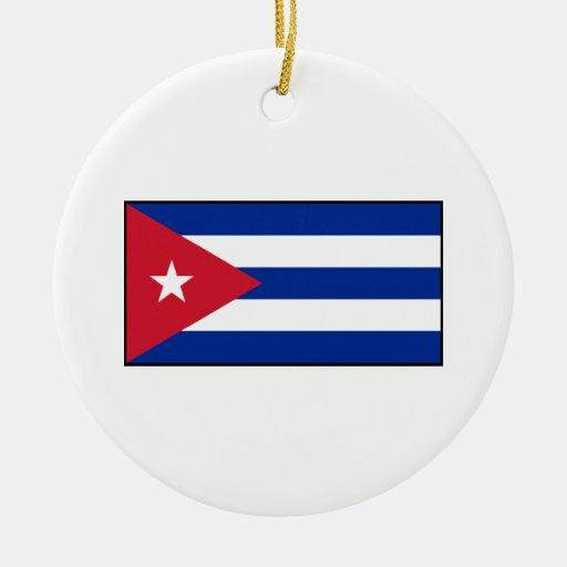 Cuba – Cuban Flag Christmas Ornaments