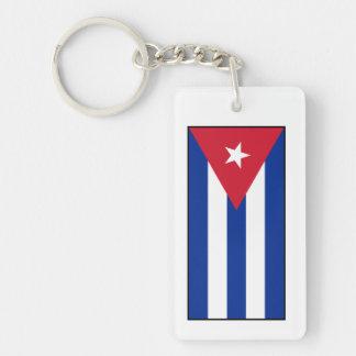 Cuba – Cuban Flag Rectangular Acrylic Keychain