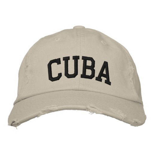 Cuba Embroidered Hat Embroidered Hats