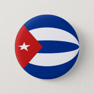 Cuba Fisheye Flag Button