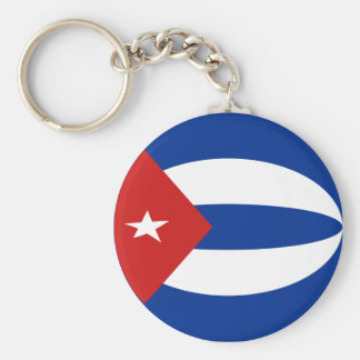 Cuba Fisheye Flag Keychain