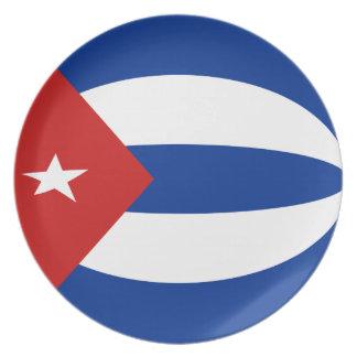 Cuba Fisheye Flag Plate