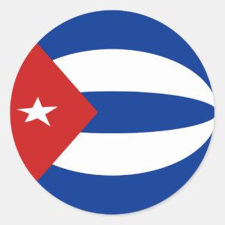 Cuba Fisheye Flag Sticker