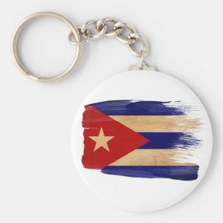 Cuba Flag Basic Round Button Key Ring