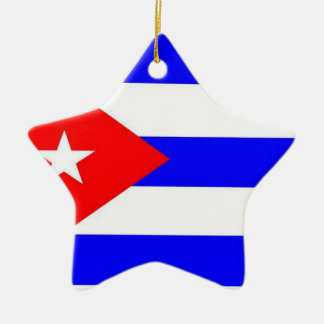 Cuba Flag Christmas Ornament