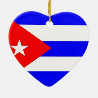 Cuba Flag Christmas Ornament