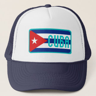 Cuba flag embroidered effect hat