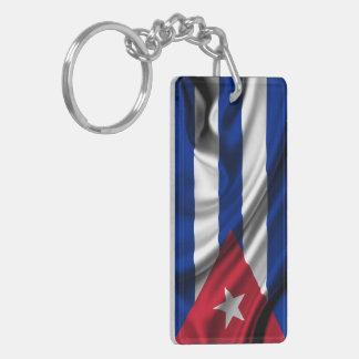Cuba Flag Fabric Key Ring