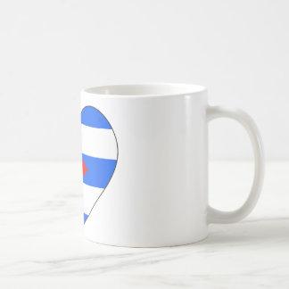 Cuba Flag Heart Coffee Mug