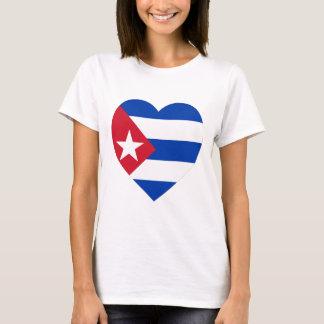 Cuba Flag Heart T-Shirt