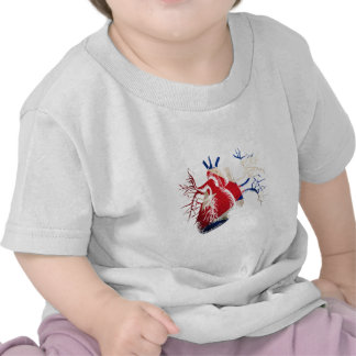 Cuba Flag in Real Heart T-shirt