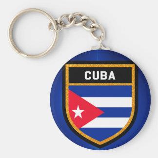 Cuba Flag Key Ring