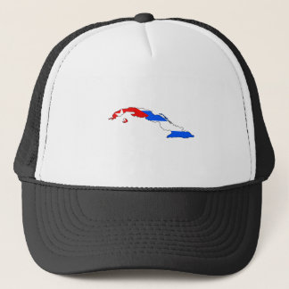 Cuba Flag Map full size Trucker Hat