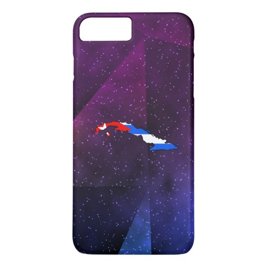 cuba Flag Map on abstract space background iPhone 7 Plus Case
